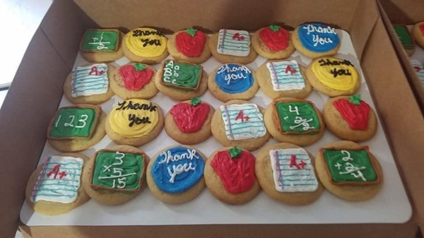 Thank you to parent, Amber Hutchinson for the Staff Appreciation Cookies!