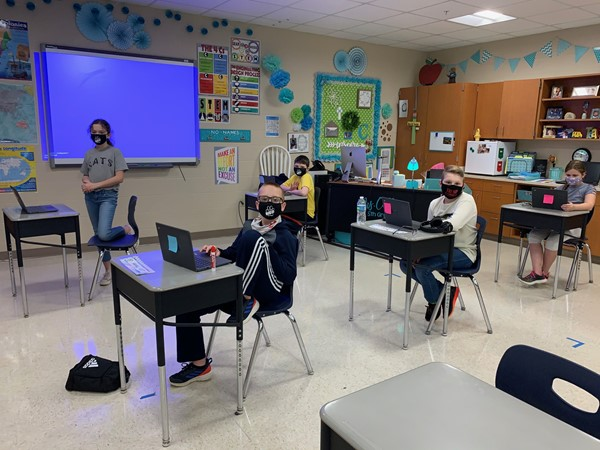 Students Return to Learning at School