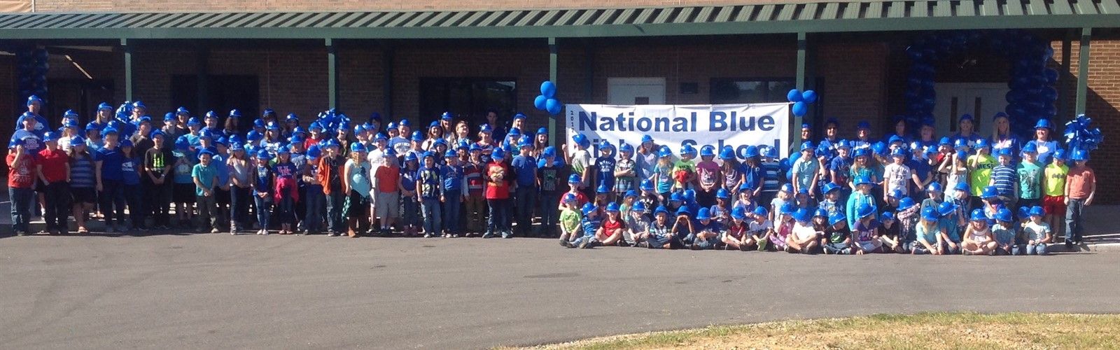 All Students and Staff pictured for their recognition of being a Blue Ribbon School.
