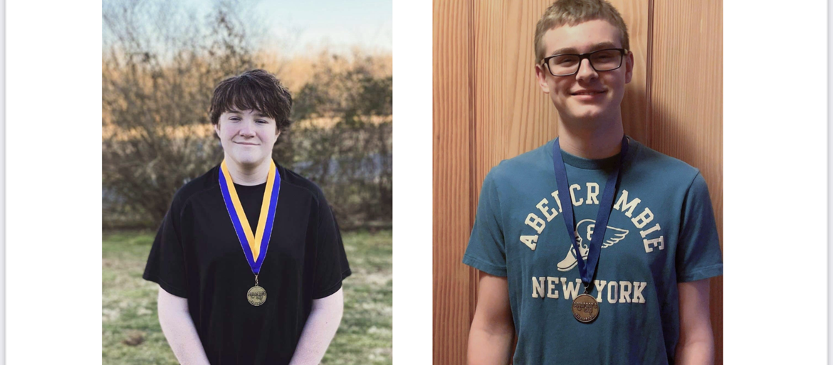 Morgan County Middle School Students Jonah O'Quinn and Hunter Noble win at Academic Regionals and are headed to the State Governor's Cup