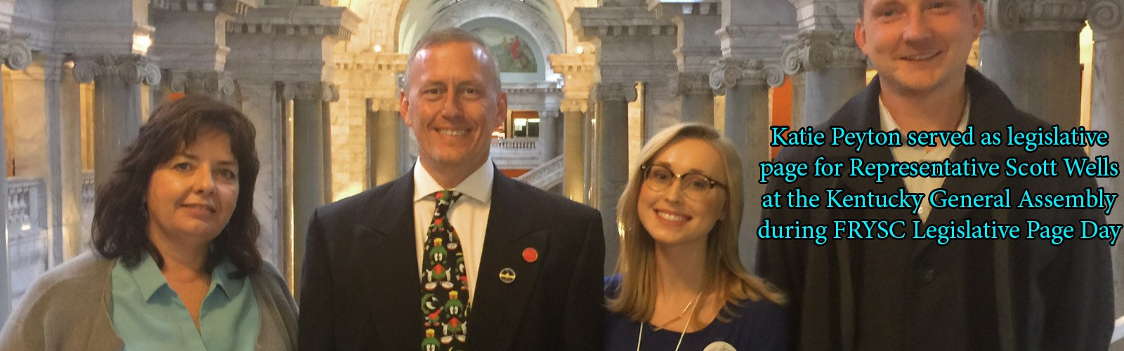 Katie Peyton served as legislative page for Representative Scott Wells at the Kentucky General Assembly during FRYSC Legislative Page Day